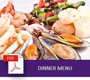 Grand Mercure Puka Park Resort Dinner Menu