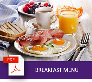 Grand Mercure Puka Park Resort Breakfast Menu