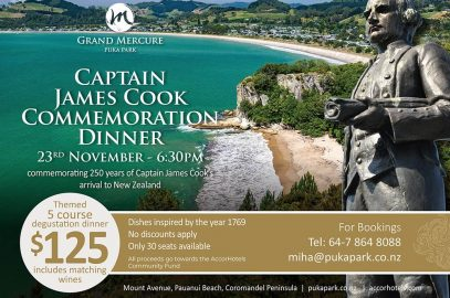 Captain James Cook Commemoration Dinner:  23rd November – 6.30pm