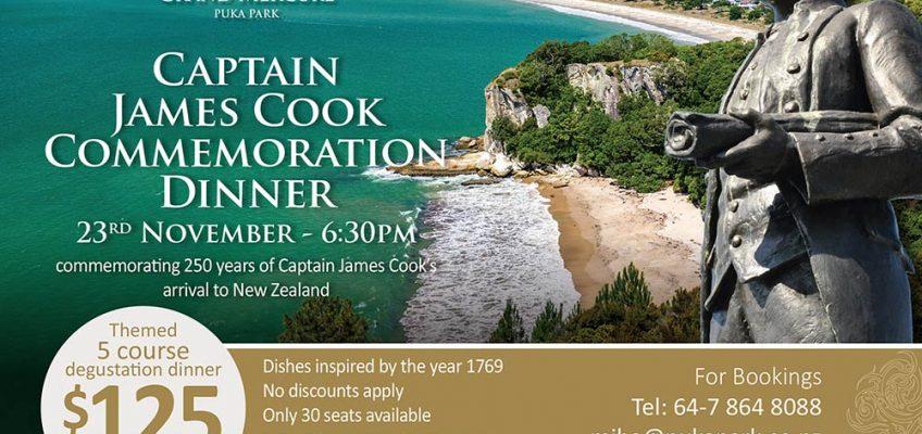 Captain James Cook Commemoration Dinner:  23rd November – 6.30pm