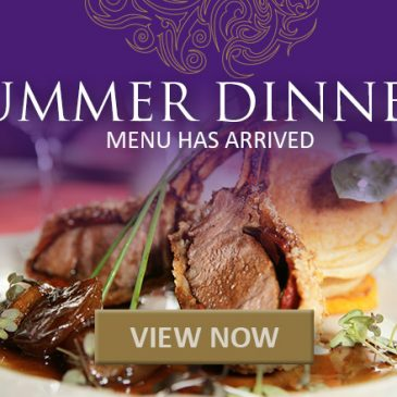 NEW Summer Dinner Menu available